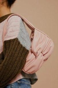 Topshop Pink Twist Knot PU Shoulder Bag – faux leather handbags