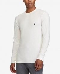 Polo Ralph Lauren Men's Waffle-Knit Thermal Pajama Shirt
