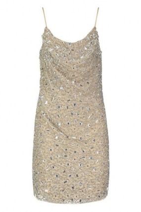 boohoo Premium Embellished Cowl Neck Mini Dress / glittering skinny strap party dresses - flipped