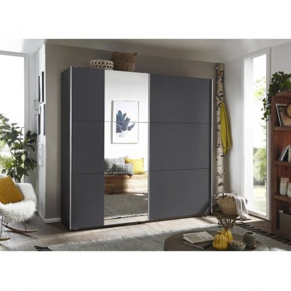 Santiago 2 Door Sliding Wardrobee by Rauch – what a wonderful wardrobe. Handy having the full length mirror - flipped