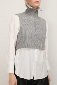 storets Stella Crop Knit Vest And Shirt Set | fashionable knitwear | knitted fashion