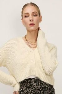 storets Ashley Fuzzy Knit Cardigan | cropped cardigans