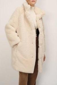 storets Brielle Faux Mink Long Coat | luxe style winter coats