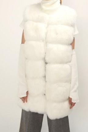 STORETS Amelia Fluffy Faux Fur Vest / pelted gilets - flipped