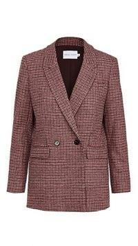 Rebecca Minkoff Grace Blazer ~ pink checked blazers ~ check print jackets