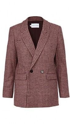 Rebecca Minkoff Grace Blazer ~ pink checked blazers ~ check print jackets - flipped