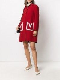 Valentino red V pocket overcoat – vintage style coats