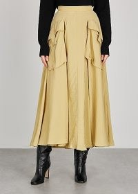 REJINA PYO Lena sand midi skirt ~ voluminous skirts