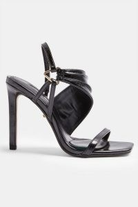 TOPSHOP RENEE Black Ring Heels ~ high heel party sandals