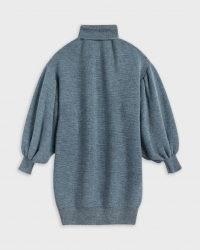 Ted Baker ROMEAX Roll Neck Dress – blue balloon sleeve jumper dresses