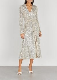 ROTATE BIRGER CHRISTENSEN Sierra sequinned stretch-tulle midi dress – shimmering party dresses – sparkly occasionwear
