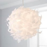 Rowen White Leaf Easy Fit Pendant – intricate, swirling paper design