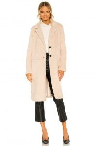 Sanctuary Keep It Cool Faux Fur Duster in Cafe ~ luxe style winter coats