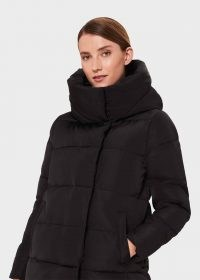 HOBBS SHORT HEATHER PUFFER JACKET – black funnel neck winter jackets