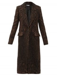 MARINA MOSCONE Single-breasted leopard-print coat – animal prints – winter coats