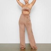 SKIMS Women's Velour Wide Leg Pant – Nude – Size 3XL