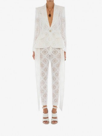 Slashed Endagered Flower Lace Jacket | luxe evening jackets - flipped
