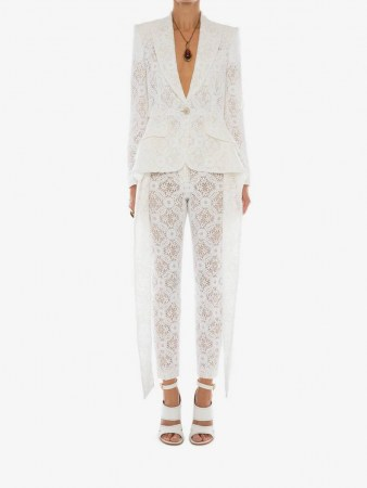Slashed Endagered Flower Lace Jacket | luxe evening jackets