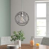 Atom 25cm Metal Sphere Pendant Shade by 17 Stories