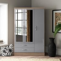 Baylee 3 Door Wardrobe by 17 Stories – good colour and stylish to look at