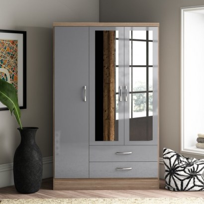 Baylee 3 Door Wardrobe by 17 Stories – good colour and stylish to look at - flipped