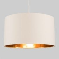 45cm Cotton Drum Pendant Shade by 17 Stories