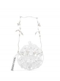 Susan Fang crystal beaded round mini bag / small luxe circular bags