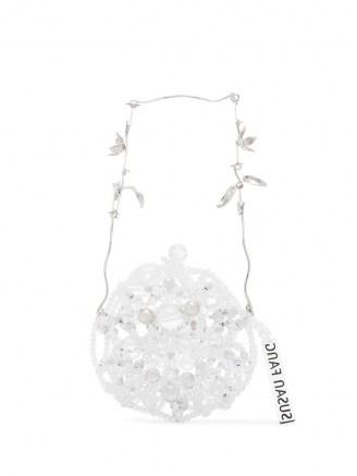 Susan Fang crystal beaded round mini bag / small luxe circular bags - flipped