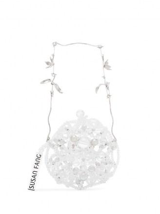 Susan Fang crystal beaded round mini bag / small luxe circular bags