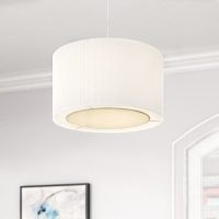 Fabric Drum Pendant Shade by Symple Stuff