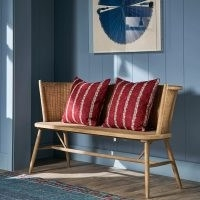 Taino Rustic Wooden Bench – Natural