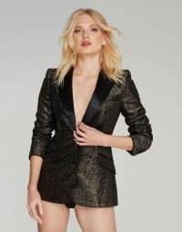 Agent Provocateur Teo Jacket ~ glittering black and silver tuxedo jackets ~ evening glamour