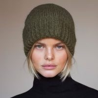 Arctic Fox & Co. The Mohair Beanie In Khaki Green | knitted winter hats | beanies