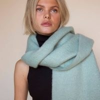Arctic Fox & Co. The Reykjavik Scarf In Pastel Mint | soft and fluffy scarves
