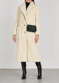 TORY BURCH Cream faux shearling coat ~ luxe soft feel winter coats