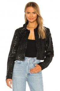 Tularosa Sano Vegan Leather Jacket – black embroidered jackets