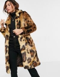 Urbancode coat in leopard faux fur – glamorous wild cat coats – winter glamour
