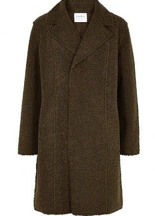 VELVET BY GRAHAM & SPENCER Meryl reversible faux shearling coat | textured winter coats - flipped