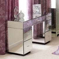 Venetian Mirrored Dressing Table – lean, simplistic design with a beautiful glass mirrored finish