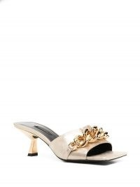 Versace gold-leather chain-embellished mules