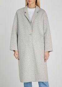 VIKTORIA & WOODS Centennial light grey wool-blend coat ~ effortless style coats
