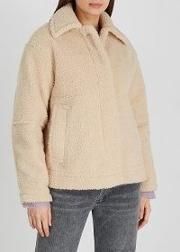 VINCE Sand faux shearling jacket | neutral textured winter jackets
