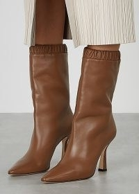 WANDLER Lina 95 brown leather knee-high boots | chic winter footwear