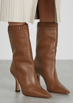 WANDLER Lina 95 brown leather knee-high boots   chic winter footwear - flipped