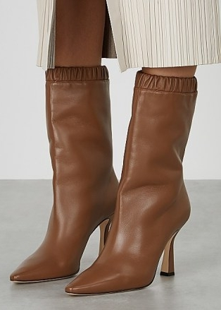 WANDLER Lina 95 brown leather knee-high boots   chic winter footwear