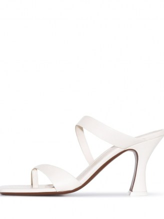 NEOUS leather T-bar strap 80mm sandals - flipped