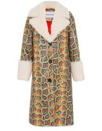 STAND Linda snake coat ~ animal print coats ~ reptile prints ~ glamorous winter outerwear