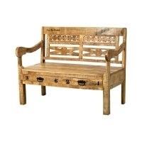 Birch Wood Storage Bench by World Menagerie