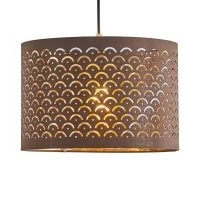30cm Linen Drum Lamp Shade by World Menagerie