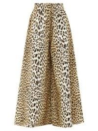 MARTA FERRI X Pierre Frey Animalier leopard cotton culottes ~ animal print wide leg trousers
